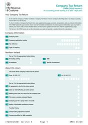 "Form CT600 ""Company Tax Return"" - United Kingdom"