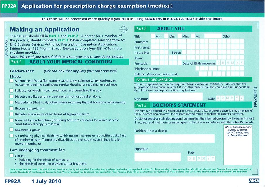 Form FP92A  Printable Pdf