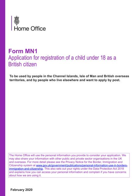 Form MN1 Printable Pdf