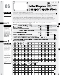 "Form OS ""United Kingdom Passport Application"" - United Kingdom"