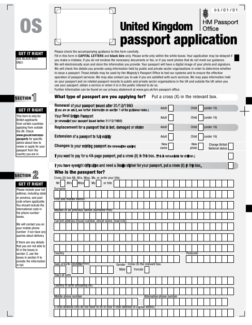 Form OS  Printable Pdf