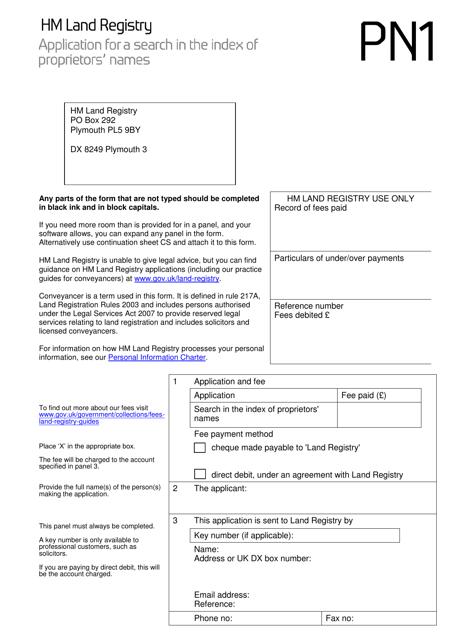 Form PN1  Printable Pdf