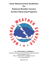 """""""Snow Measurement Guidelines for National Weather Service Surface Observing Programs"""""""