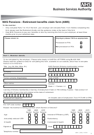 "Form AW8 ""Retirement Benefits Claim Form"" - United Kingdom"