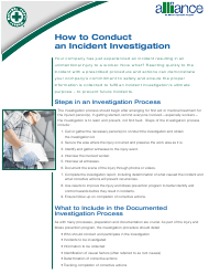 """""""How to Conduct an Incident Investigation - National Safety Council"""""""
