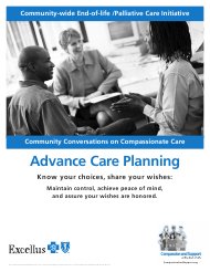 """Form B-1576 """"Advance Care Planning - Know Your Choices, Share Your Wishes: Maintain Control, Achieve Peace of Mind, and Assure Your Wishes Are Honored - Bluecross Blueshield"""""""