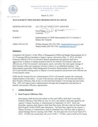 """Management Procedures Memorandum No. 2015-01 (Implementation of Omb Memorandum M-12-12 Section 3: Reduce the Footprint )"""