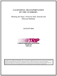 """California Transportation by the Numbers: Meeting the State's Need for Safe, Smooth and Efficient Mobility - Trip"""