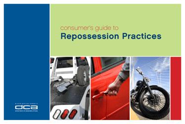 """Consumer's Guide to Repossession Practices"" - California"