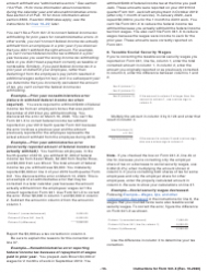 """Instructions for IRS Form 941-X """"Adjusted Employer's Quarterly Federal Tax Return or Claim for Refund"""", Page 10"""