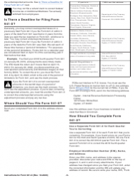 """Instructions for IRS Form 941-X """"Adjusted Employer's Quarterly Federal Tax Return or Claim for Refund"""", Page 5"""