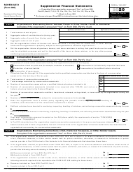 "IRS Form 990 Schedule D ""Supplemental Financial Statements"", 2020"