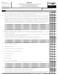 "IRS Form 990 (990-EZ) Schedule E ""Schools"", 2020"