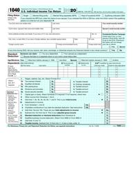 "IRS Form 1040 ""U.S. Individual Income Tax Return"", 2020"
