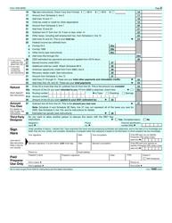 "IRS Form 1040 ""U.S. Individual Income Tax Return"", Page 2"