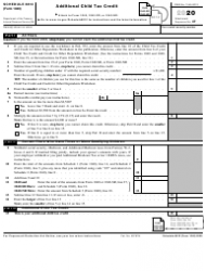 """IRS Form 1040 Schedule 8812 """"Additional Child Tax Credit"""""""