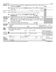 """IRS Form 1040-SR """"U.S. Tax Return for Seniors"""", Page 3"""