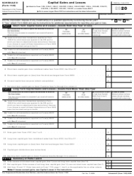 """IRS Form 1120 Schedule D """"Capital Gains and Losses"""""""
