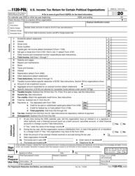 "IRS Form 1120-POL ""U.S. Income Tax Return for Certain Political Organizations"""