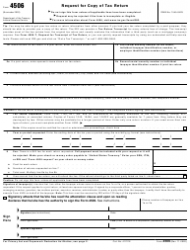 """IRS Form 4506 """"Request for Copy of Tax Return"""""""