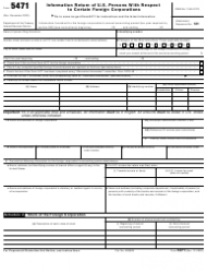 """IRS Form 5471 """"Information Return of U.S. Persons With Respect to Certain Foreign Corporations"""""""