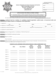 """Application for Special Event License"" - Arizona"