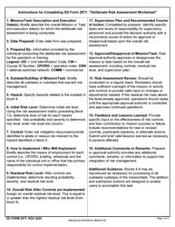 """DD Form 2977 """"Deliberate Risk Assessment Worksheet"""", Page 3"""