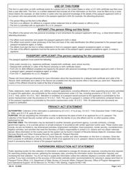 "Form DS-10 ""Birth Affidavit"""