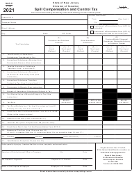 """Form SCC-5 """"Spill Compensation and Control Tax"""" - New Jersey, 2021"""