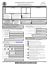 """USCIS Form I-140 """"Immigrant Petition for Alien Workers"""""""