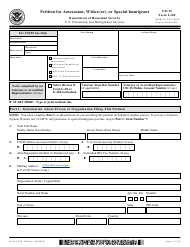 """USCIS Form I-360 """"Petition for Amerasian, Widow(Er), or Special Immigrant"""""""