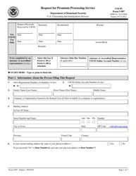 "USCIS Form I-907 ""Request for Premium Processing Service"""