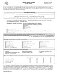 "SBA Form 2449 ""Community Advantage Addendum (7(A) Pilot Program)"""