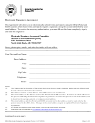 """Electronic Signature Agreement"" - Arkansas"