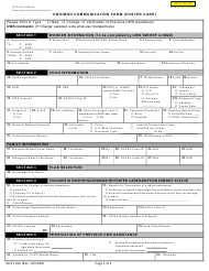 "Form DHS1106 ""Cws/Mqd Communication Form (Foster Care)"" - Hawaii"