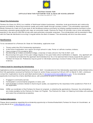 "State Form 56875 ""Application for Partners for Clean Air Scholarship"" - Indiana"