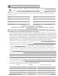 """Form CC-DC-DV-001 """"Petition for Protection From Domestic Violence/Child Abuse/Vulnerable Adult Abuse"""" - Maryland"""
