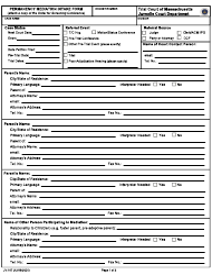 "Form JV-167 ""Permanency Mediation Intake Form"" - Massachusetts"