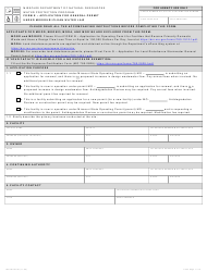 """Form E (MO780-0795) """"Application for General Permit Under Missouri Clean Water Law"""" - Missouri"""