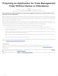 """Form I (PFA718) """"Application for Case Management Order Without Notice or Attendance"""" - British Columbia, Canada"""