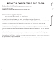 """Form G (PFA716) """"Reply to a Counter Application"""" - British Columbia, Canada, Page 3"""