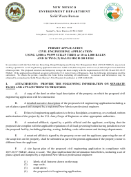 """Application for Medium Civil Engineering Application Permit"" - New Mexico"