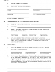 """Scrap Tire Hauler Registration Form"" - New Mexico, Page 2"
