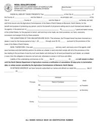 "Form SFN58642 ""Wool Dealer's Bond"" - North Dakota"