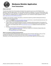 "Form MJ17-5020 ""Marijuana Retailer Application"" - Oregon"