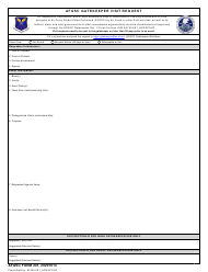 "AFGSC Form 201 ""Afgsc Gatekeeper Visit Request"""
