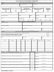 """15 WG Form 26 """"Local Manufacture Request Worksheet"""""""