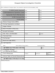 """15 WG Form 24 """"Dropped Object Investigation Checklist"""""""