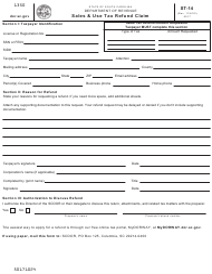 "Form ST-14 ""Sales & Use Tax Refund Claim"" - South Carolina"