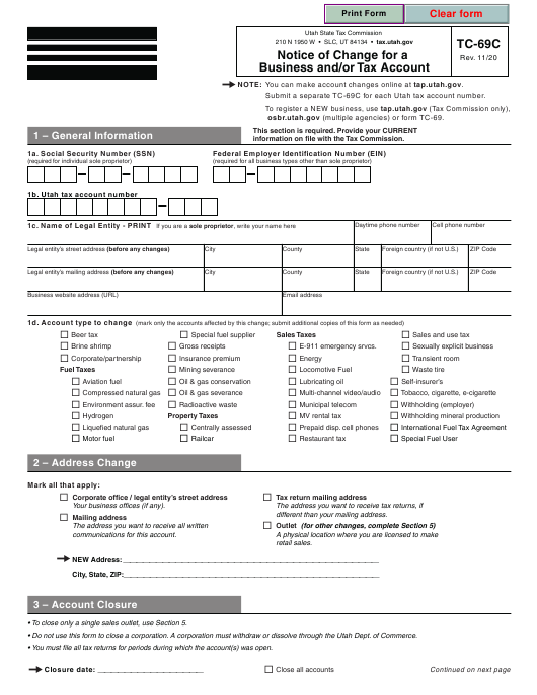 Form TC-69C Printable Pdf
